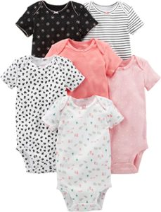 Carters Baby Girls 6 Pack Short Sleeve Bodysuit