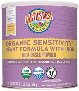 Earth's Best Organic Low Lactose Sensitivity Infant Formula Non-GMO