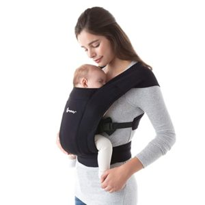 Ergobaby Pure Black Embrace Baby Wrap Carrier