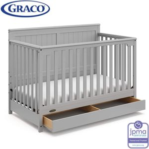 Stork Craft 4-in-1 Convertible Crib with Drawer