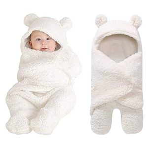 XmWealthy Cute Newborn Plush Swaddle Blankets