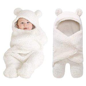 XmWealthy Cute Newborn Plush Swaddle Blankets