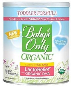 Baby's Only Organic LactoRelief Toddler Formula