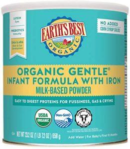 Earth's Best Organic Gentle Infant Powder Formula