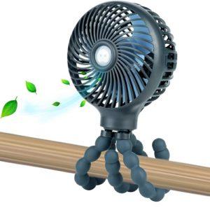 Snawowo Mini Handheld Baby Stroller Fan